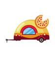 street fast food mobile food car pizza fast food vector image vector image