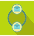 Synchronization messages icon flat style vector image