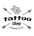 tattoo shop arrow flower background image vector image vector image