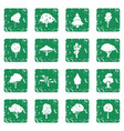 trees icons set grunge vector image vector image