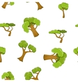 Trees pattern cartoon style vector image vector image