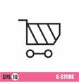 Web Lines icon basket shop vector image vector image