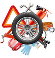 Wheel with car accessories
