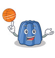 with basketball jelly character cartoon style vector image