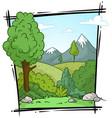 cartoon nature landscape background vector image