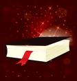 Magic light book vector image