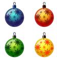 Set of Christmas balls Christbaumschmuck vector image