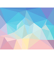 triangle mosaic background in light pastel colors vector image