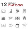 12 economy icons vector image vector image