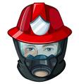 A head of a fireman vector image