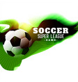 abstract soccer league game background vector image vector image