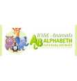 alphabet infographics wild cute animals abs logo vector image vector image