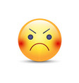angry smiley emoji face annoyed cute cartoon vector image
