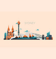 australia travel landmark landscape with vector image