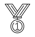 Award medal gold success winner competition symbol vector image