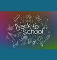 back to school banner design different school vector image vector image