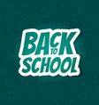 back to school poster design with seamless abc vector image