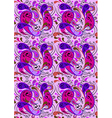 Background with purple and crimson paisley pattern vector image