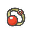 ball gag accessory icon cartoon vector image