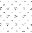 bird icons pattern seamless white background vector image vector image