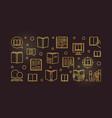 books concept golden outline vector image