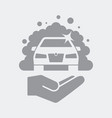 car cleaner services icon vector image