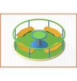 carousel isometric perspective view flat vector image vector image
