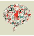 Christmas social media speech bubble vector image vector image