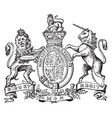 coat of arms great britain and ireland vintage vector image vector image
