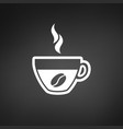 coffee cup with bean icon vector image
