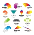 collection of abstract logos range vector image vector image