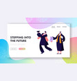 college or university graduating student character vector image