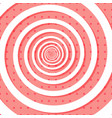colorful retro style spiral background with polka vector image vector image