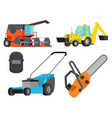concept of operative equipment and heavy transport vector image vector image