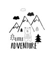 cute bear for t-shirt design vector image
