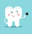 cute cartoon healthy opposing tooth decay dental vector image vector image