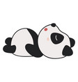 cute sleeping panda on white background vector image vector image