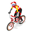 Cycling BMX 2016 Sports 3D Isometric vector image vector image