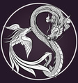 Dragon Tattoo Drawing vector image