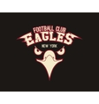 Eagle sport tee graphic Stylish design for vector image