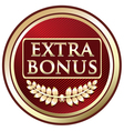 Extra Bonus Red Label vector image vector image