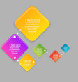 flat rhombus colorful info-graphic vector image vector image