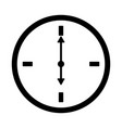 flat watch icon silhouette time web clock vector image vector image