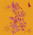flowers fashion print vector image vector image