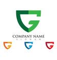 g letter logo template vector image