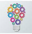 gear bulb vector image vector image