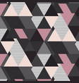 geometrical mosaic pattern grey pink and vector image vector image