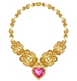 Gold necklace vector image vector image