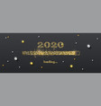 golden loading bar with transition to 2020 new vector image vector image
