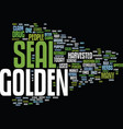 golden seal text background word cloud concept vector image vector image